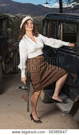 Beautiful 1920 Gangster Woman