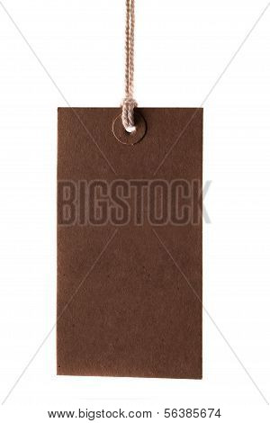 Blank Label With String