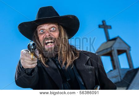 Laughing Cowboy With Gun