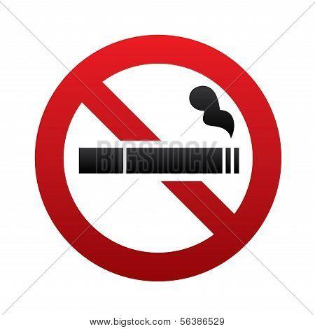 No smoking sign. No smoke icon. Stop smoking.