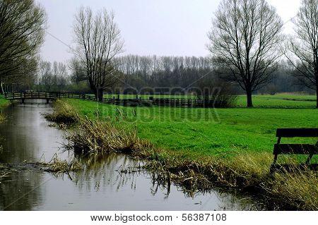 Polderlandschap In Holland