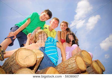 Teens on wood