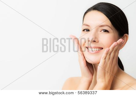 Beautiful Healthy Young Woman Full Of Vitality