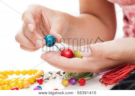 Wooden Beads Springing