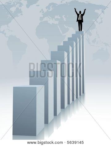 sucesso e tendência ascendente