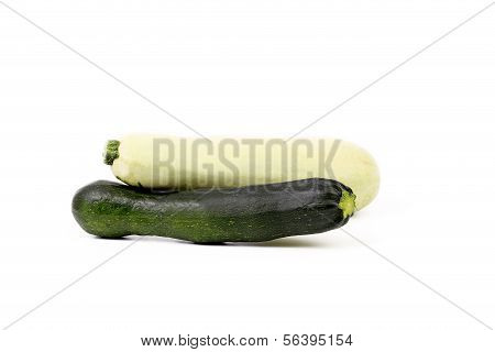 White and green vegetable marrow.