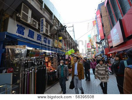 Tokyo, Japan - November 22 : Ameyoko Market In Ueno District