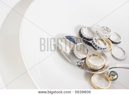Bunch Of Rings And Spoon