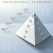 picture of pyramid  - 3d modern vector abstract pyramid infographic elements - JPG