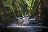 pic of ravines  - The gorge at Finnich Glen also known as Devils Pulpit near Killearn Scotland - JPG