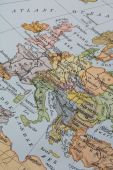 Vintage 1956 map of europe poster