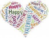 pic of broken heart flower  - Tag or word cloud Valentine - JPG