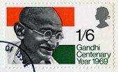 Vintage British Stamp Of Mahatma Gandhi