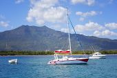 picture of mauritius  - Boats on the Indian Ocean  - JPG