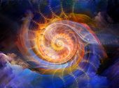 picture of coiled  - Colors in Motion series - JPG