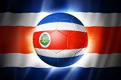 Постер, плакат: Футбол футбольный мяч с флагом Коста Рика