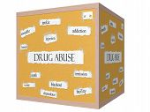 image of meth  - Drug Abuse 3D Cube Corkboard Word Concept with great terms such as addiction er heroin meth and more - JPG