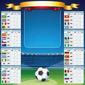image of roster  - Soccer Background team rosters and flags  - JPG