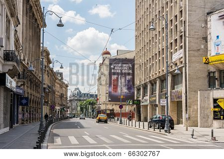 Victory Avenue In Bucharest
