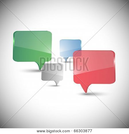 Set of dialog boxes on gray background vector