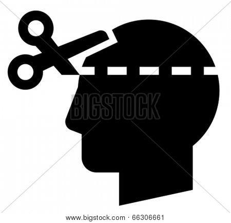 Brain cut icon