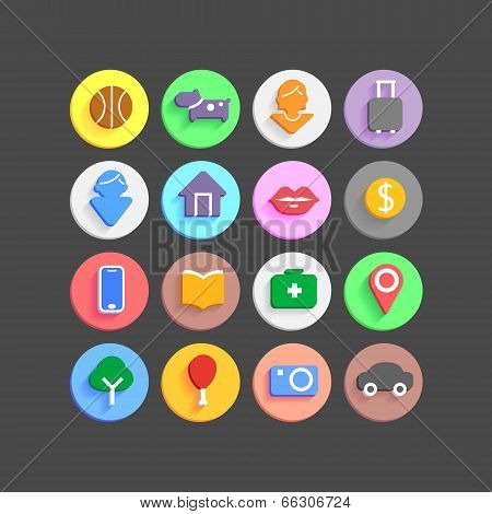 Modern icons vector collection