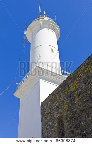 Detail Of Lighthouse In Colonia, Uruguay.