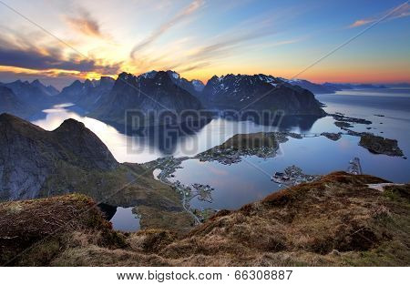 Landscape - Village Reine At Sunset, Norway