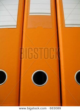 Carpetas naranjas