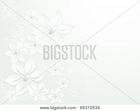 Lovely wedding paper card element pattern design