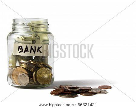 Money on the bottle,dollar