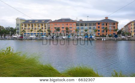 Colorful Apartments And Marina