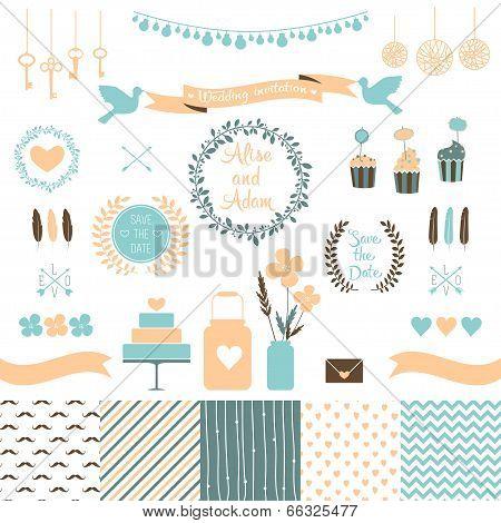 Set for wedding design.