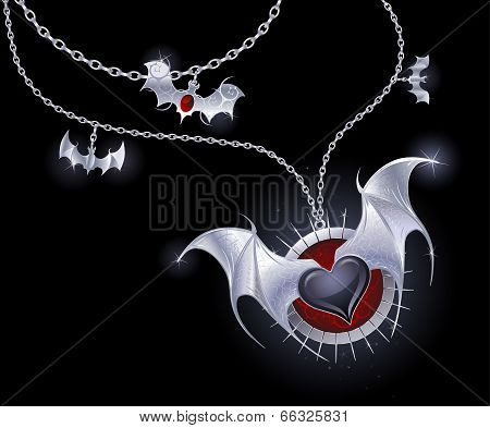 Silver Heart Of A Vampire