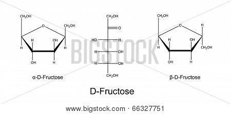 Structural Chemical Formulas Of Fructose (d-fructose)
