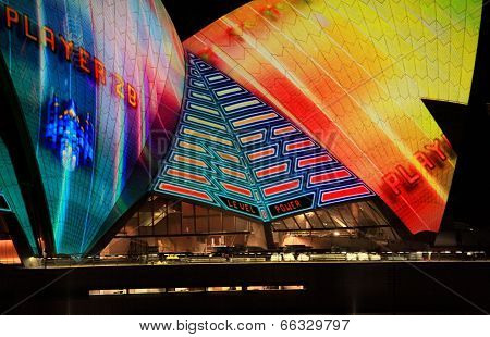 Opera House Sails During Vivid Sydney