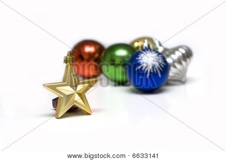 Beautiful Christmas Ornaments Backgrounds