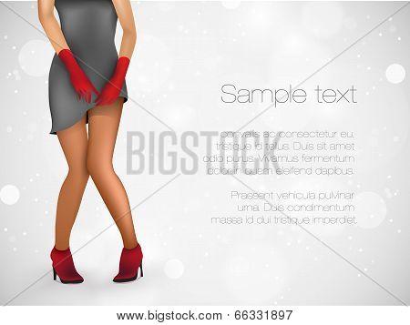 Sensuality long legs