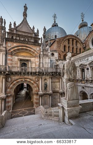 Palazzo Ducale (doge's Palace) And San Marco Cathedral In Venice, Italy