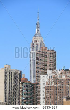 Midtown Manhattan skyline on a clear day, New York City