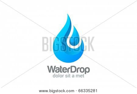 Waterdrop creative vector design logo. Clear Water drop concept. Mineral Aqua symbol. Fresh drop