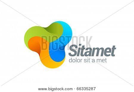 Corporate Media vector design logo. Business Technology Creative design concept icon.
