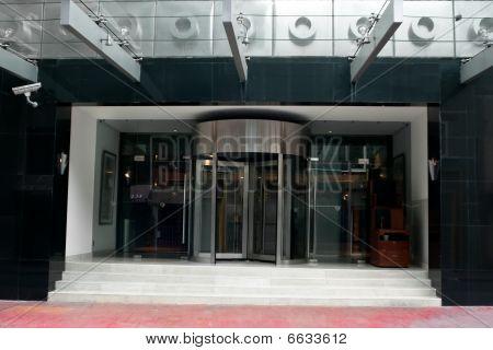 Revolving Door In Modern Hotel