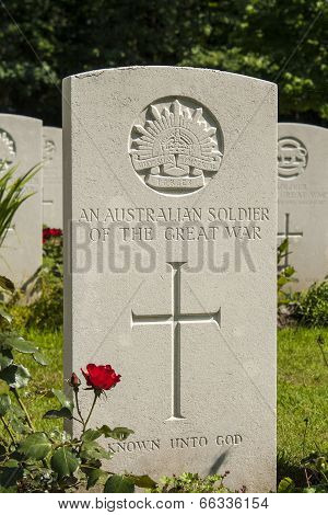 An Australian Soldier Of The Great War Ww1