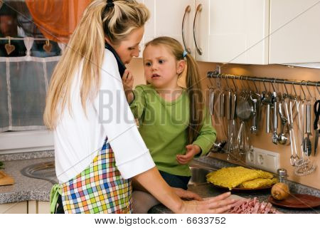 Family affairs - little child wants some attention