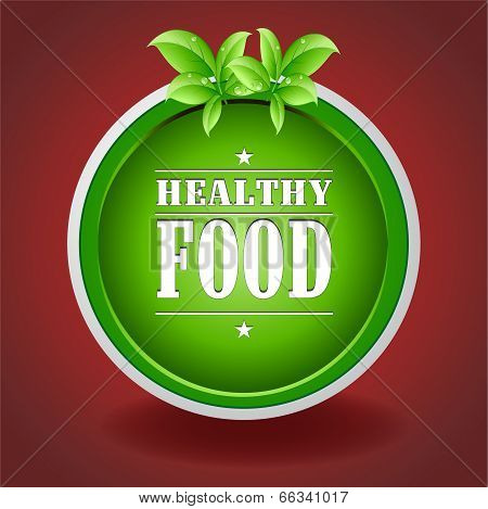 Healthy Food Green Plate