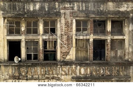 Dilapidated Brick Building of Concern