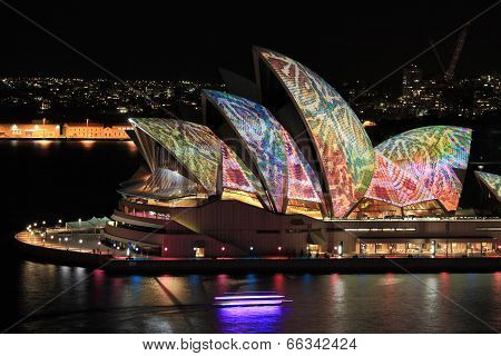 Sydney Opera House In Colourful Reptile Snakeskin