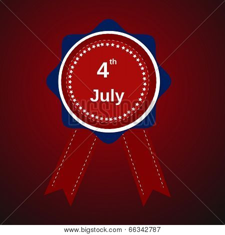 Happy Independence Day United States Of America, 4Th Of July Card With Label