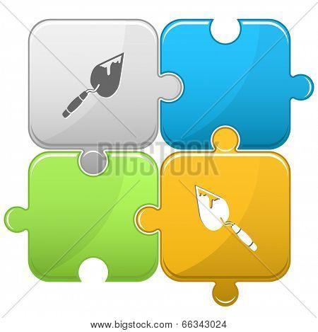 Trowel. Vector puzzle.
